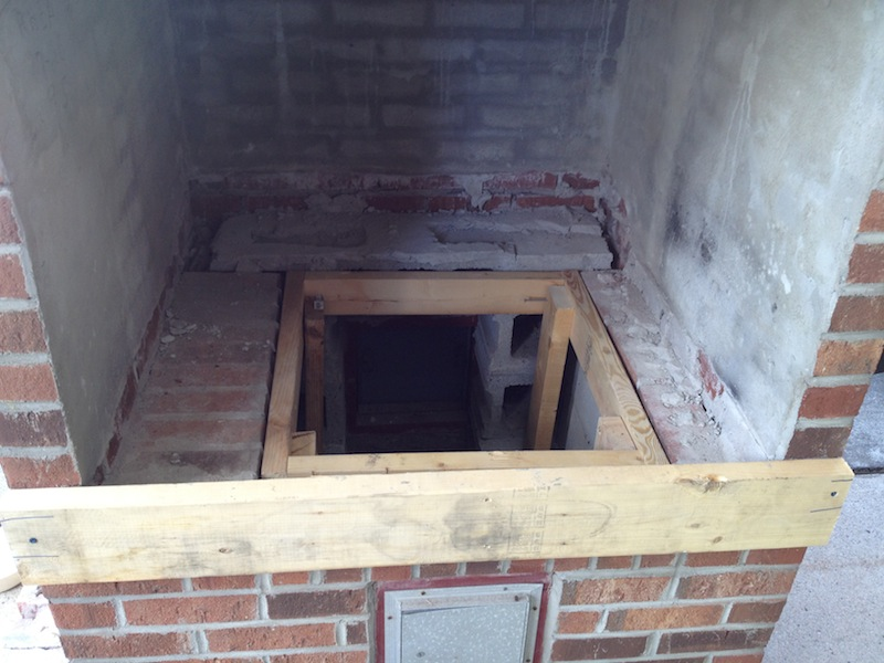 Building A Brick Pizza Oven Into An Existing Space 171 Home