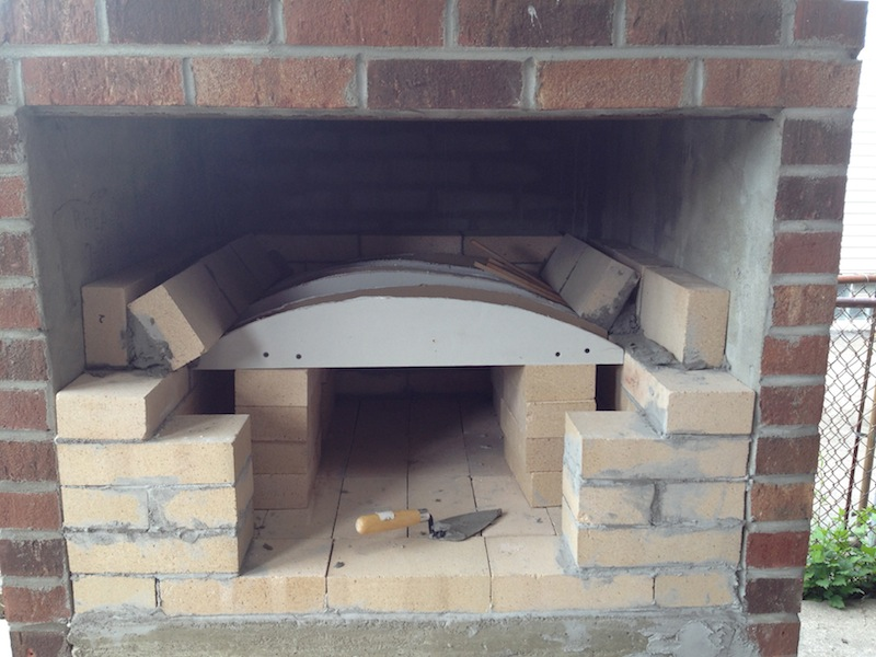 Building a brick pizza oven into an existing space home improvement stack exchange blog - How to build an alley out of reused bricks ...