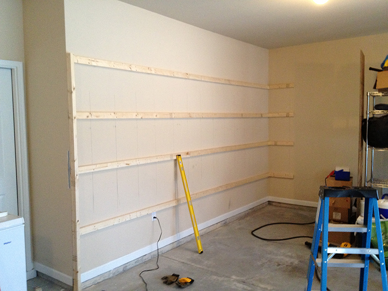 How to build sturdy garage shelves home improvement stack garage shelves build 1 solutioingenieria Choice Image
