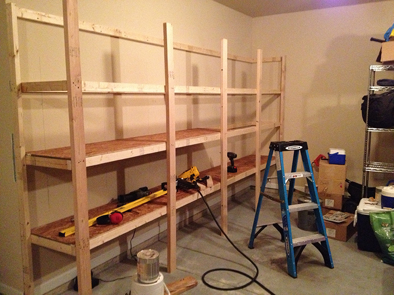 diy garage storage shelves how to build sturdy garage shelves 171 home improvement 14894