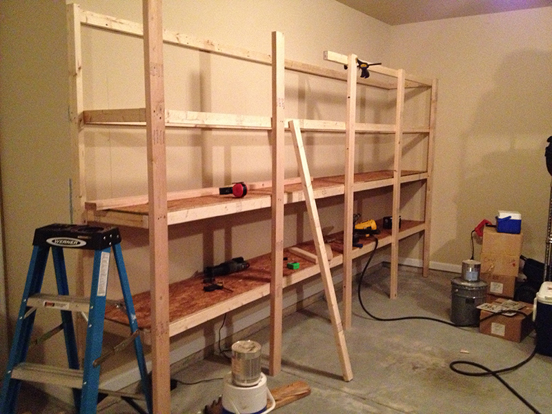 ... shelving how to build garage storage overhead make wooden garage shelf