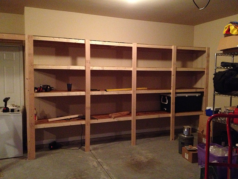 How to build sturdy garage shelves home improvement for Garage plans with storage